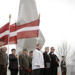 Latvijas armijas kapelāni Laimnesis Pauliņš (no kreisās), Ruslans Markēvičs, virskapelāns Elmārs Pļaviņš, Raimonds Krasinskis un Uģis Brūklene.